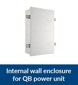 Internal wall enclosure for QB power unit