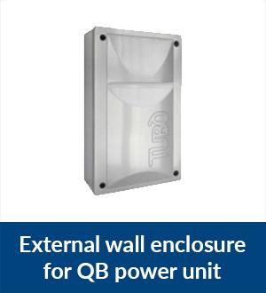 External wall enclosure for QB power unit